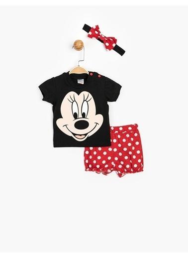 Minnie Mouse 2 li Takım Siyah